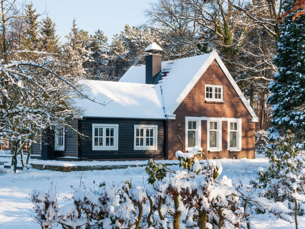 Beautiful home during winter