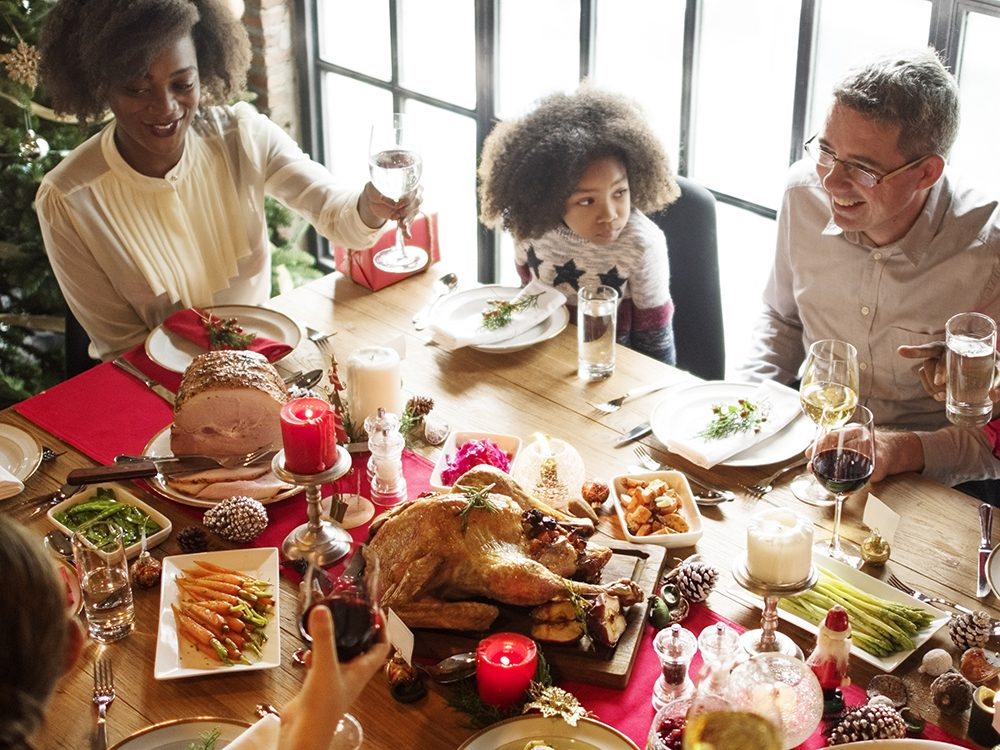 Try to enjoy yourself at your own Christmas party