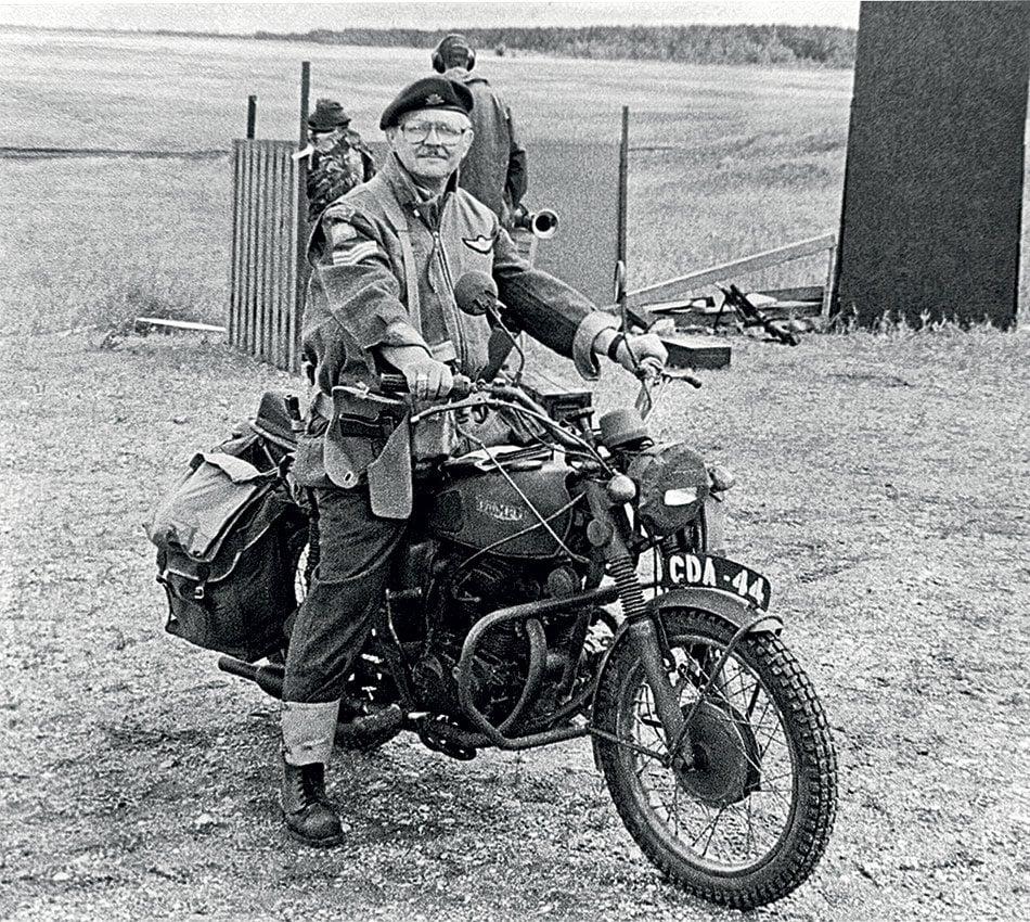 WWII-era vintage motorcycle replicas