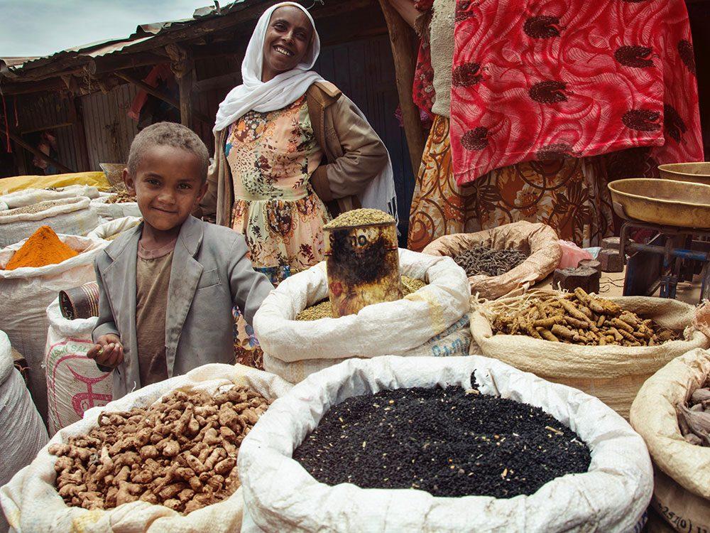 Spice market in Ethiopia