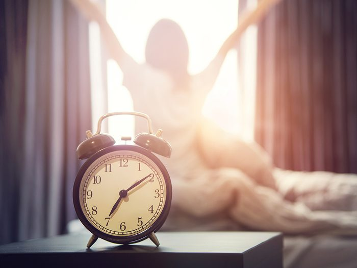Best position to poop - alarm clock morning wake-up