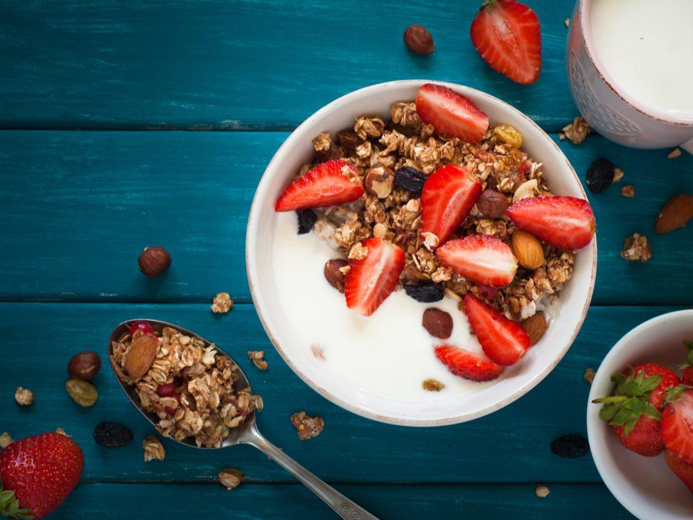 High-fibre breakfast foods