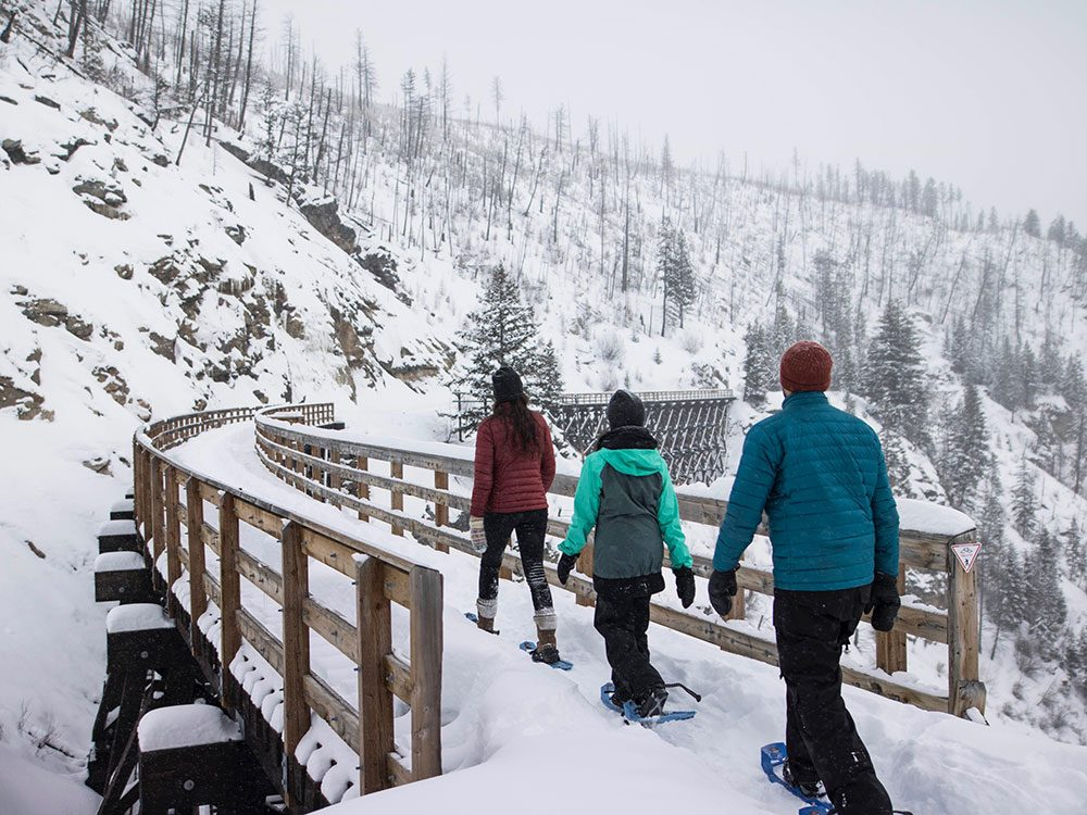 Snow shoeing in Kelowna, British Columbia