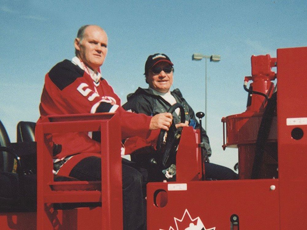 Jim MacNeill driving his Zamboni
