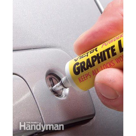 Lubricate car door locks