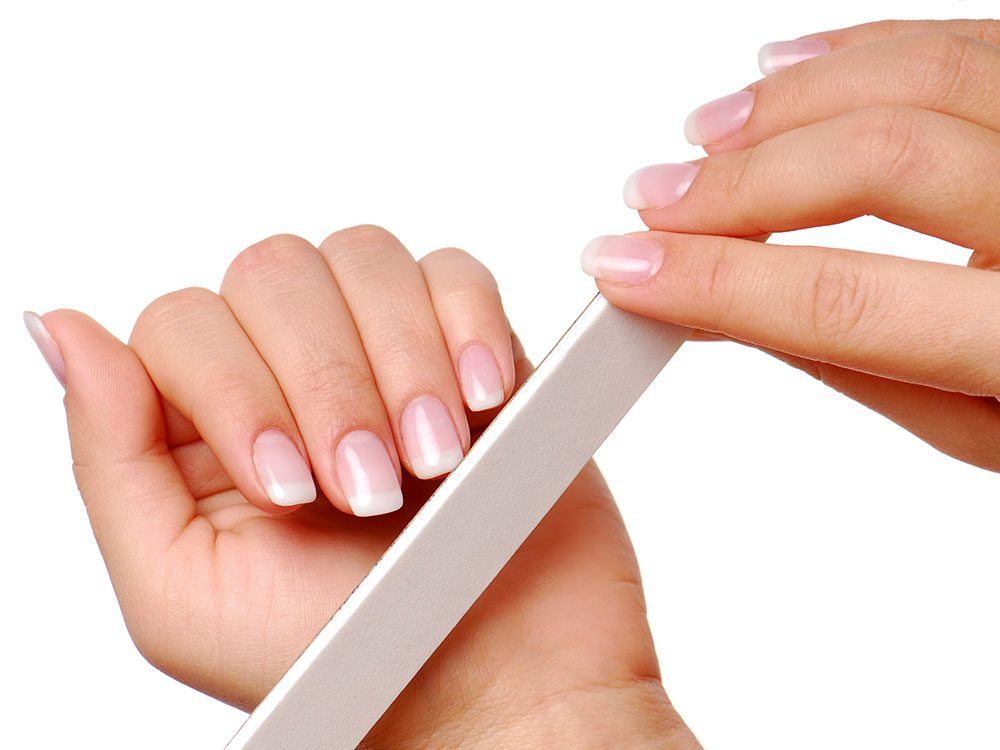 Uses for sandpaper - emery board for nails
