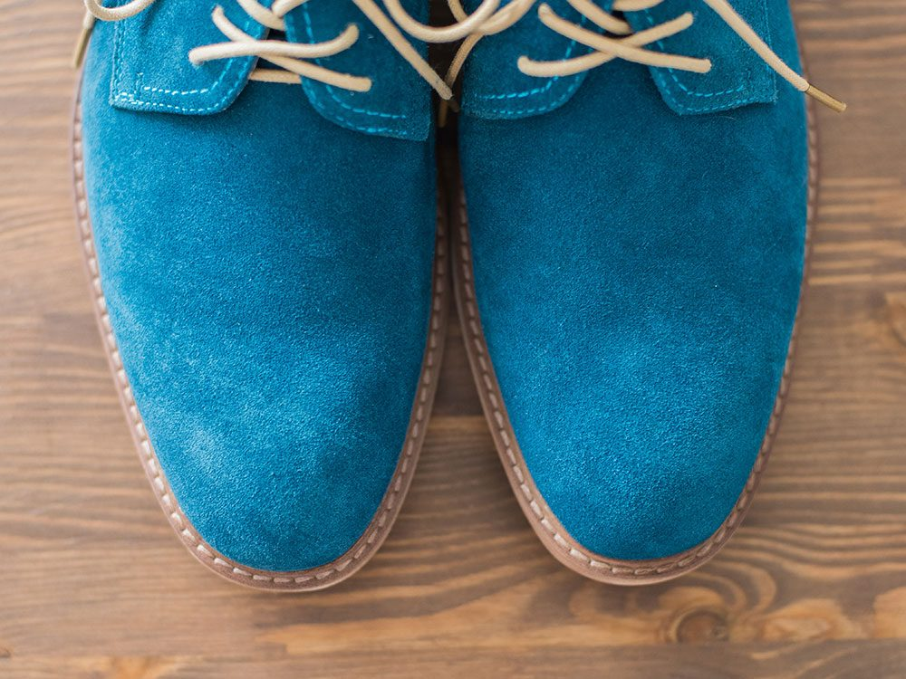 Uses for sandpaper - remove scuffs from suede