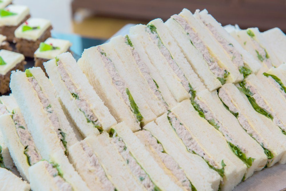 Tuna Sandwich Salad with white bread for coffee break