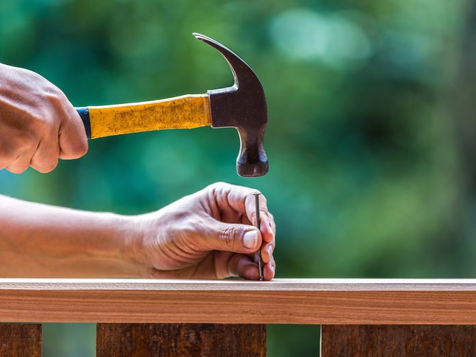 Home improvement hacks - Hammering in a nail