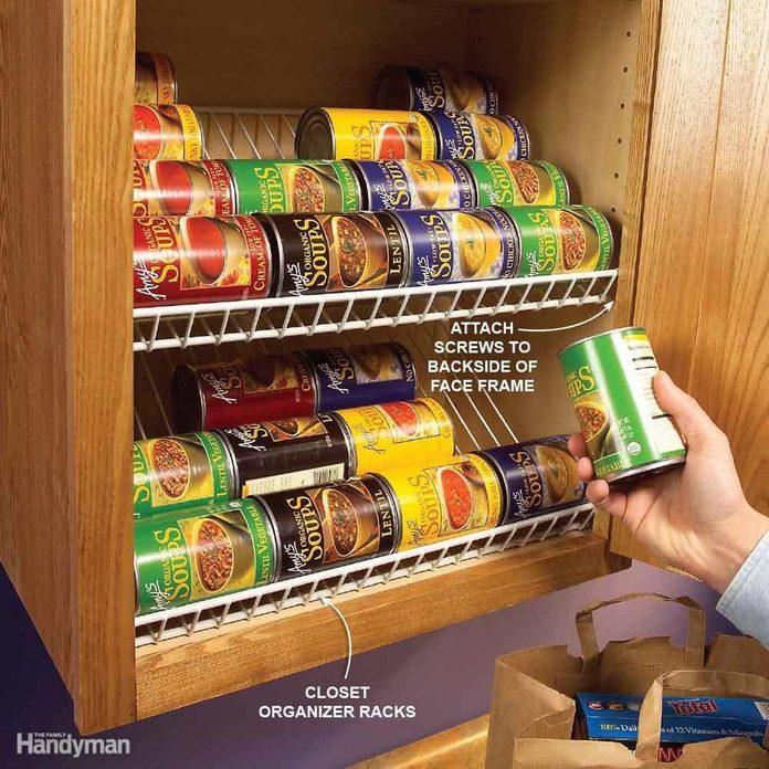can rack storage kitchen cabinet