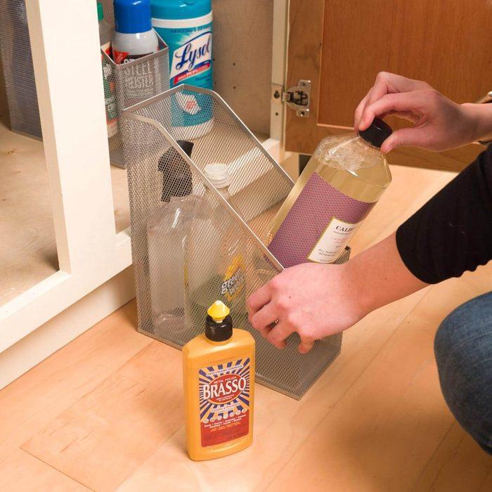 HH File folders under kitchen sink organization