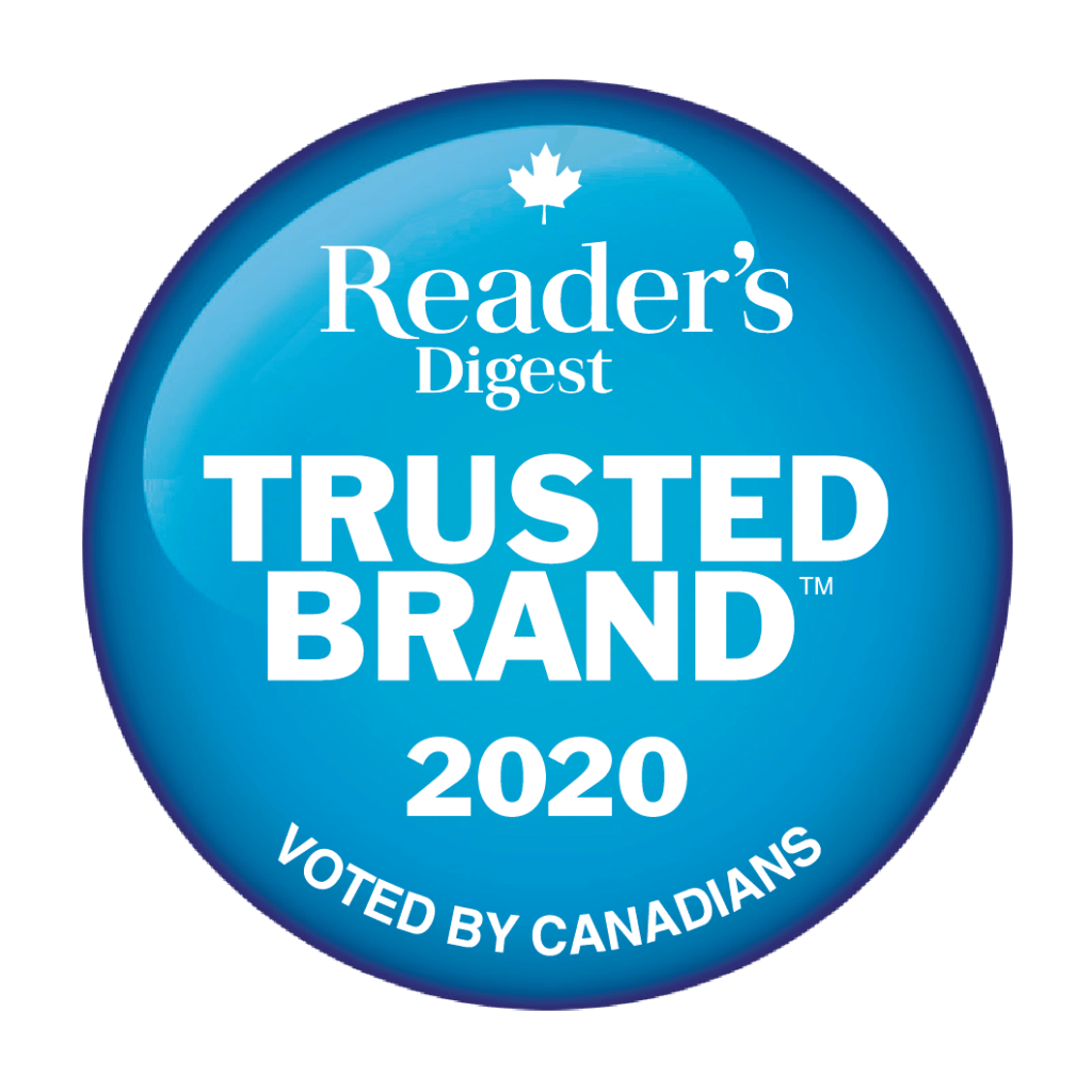 Reader's Digest Trusted Brand 2020 Seal