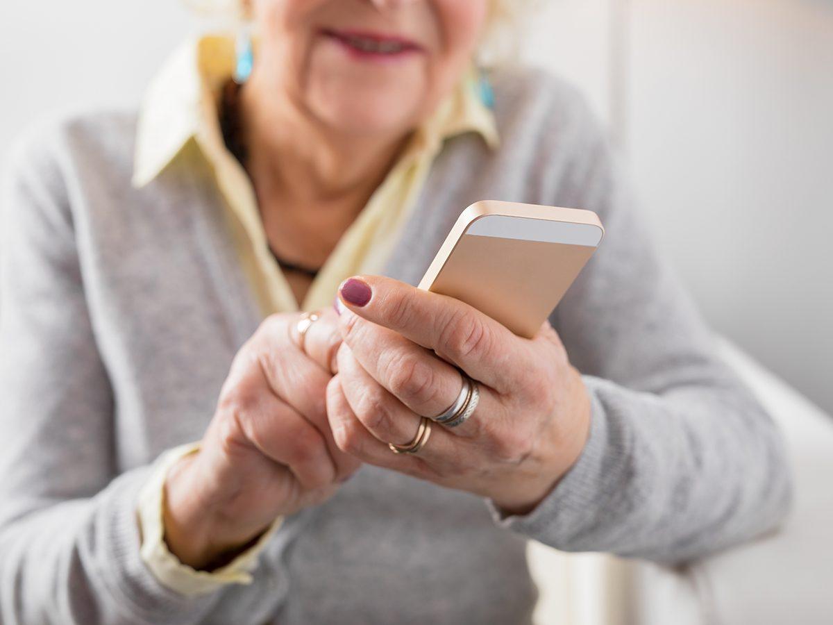 Best jokes of all time - senior woman on phone