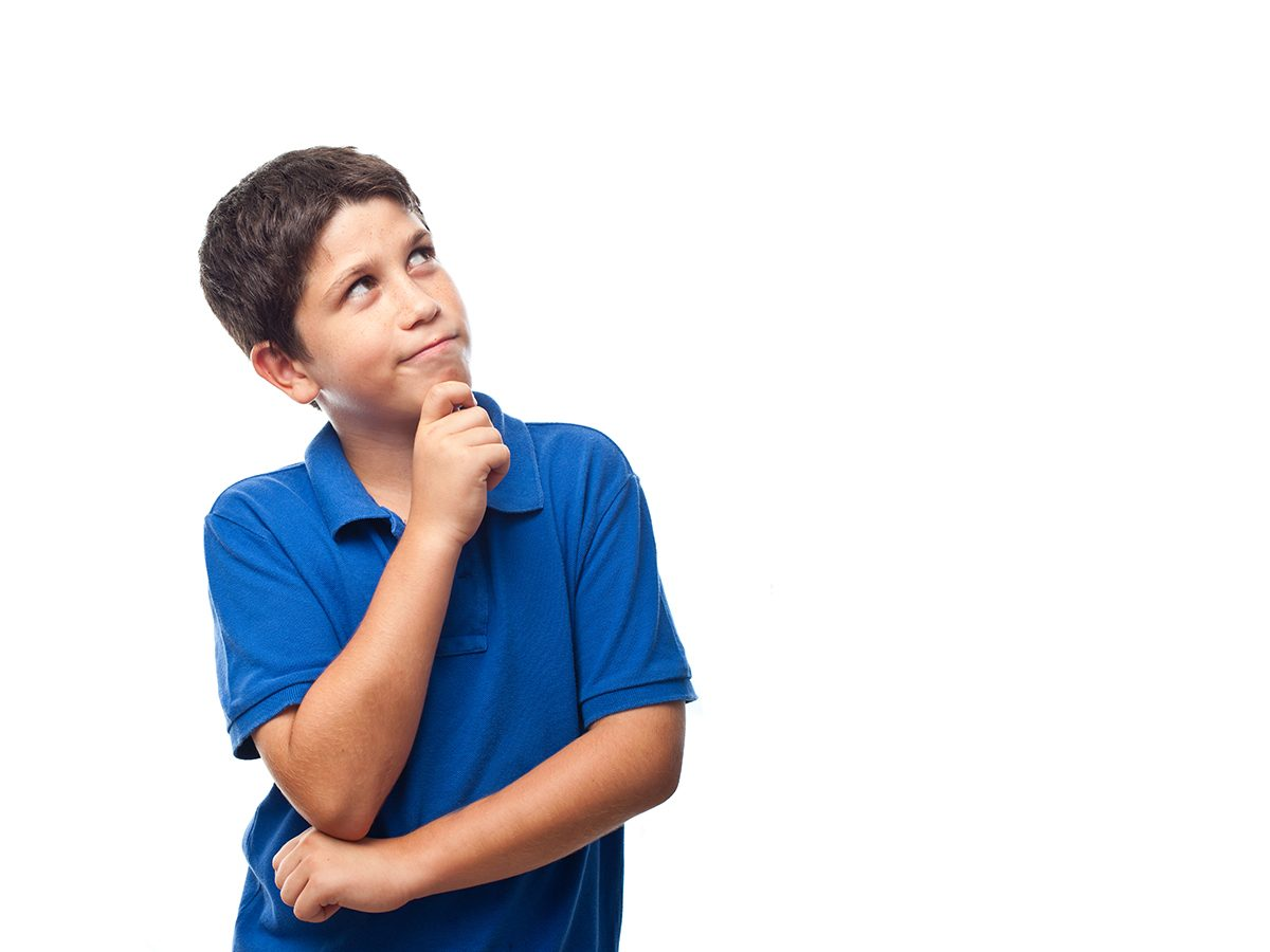 Best jokes of all time - young boy thinking