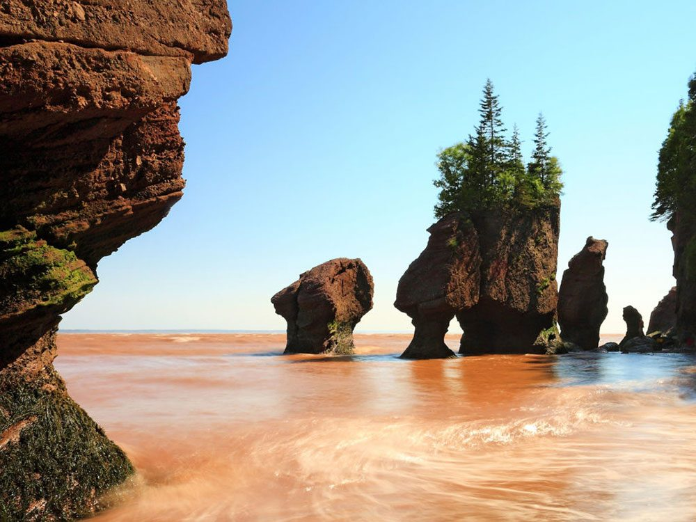 Best places to visit in Canada - Hopewell Rocks, Bay of Fundy
