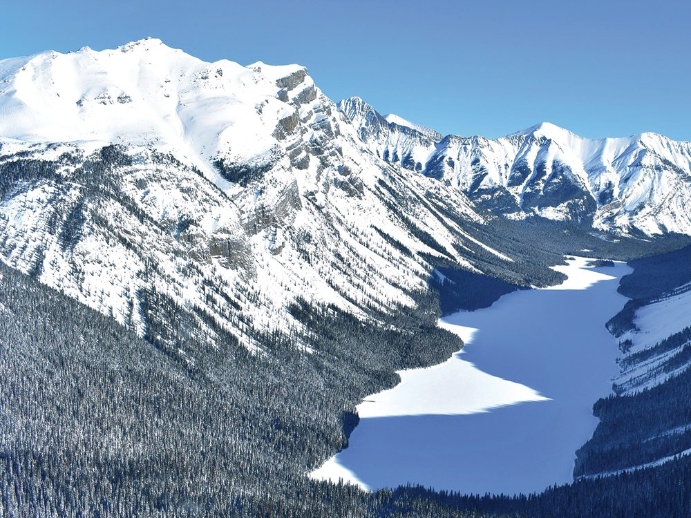 Canadian Rockies from overhead