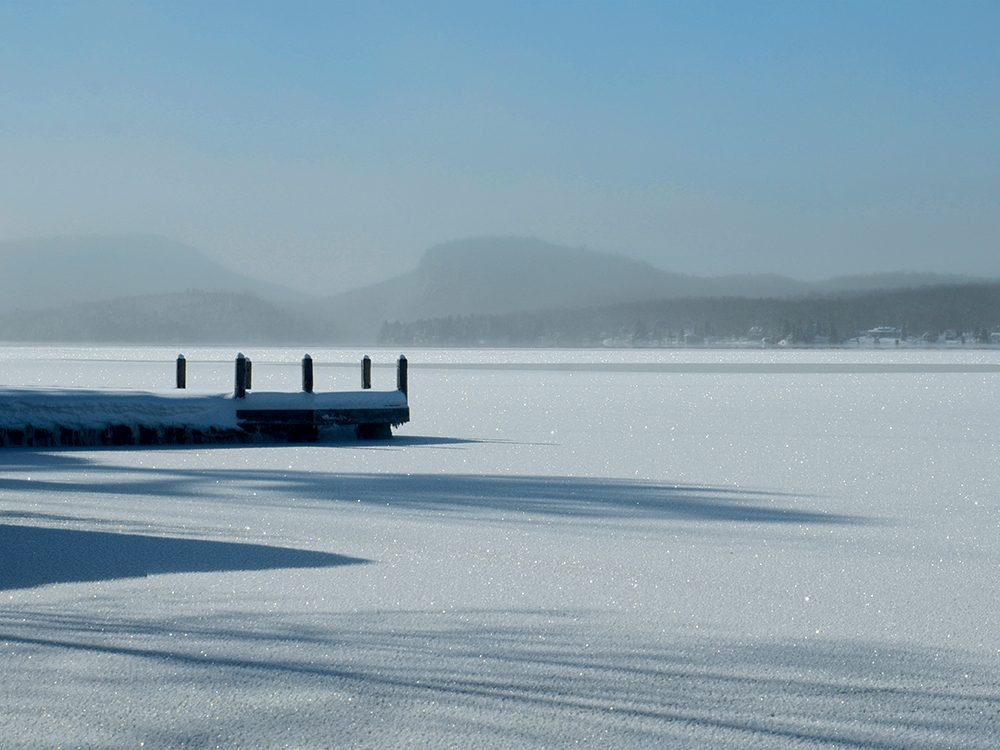 Canadian winter in Lac Brompton, Quebec