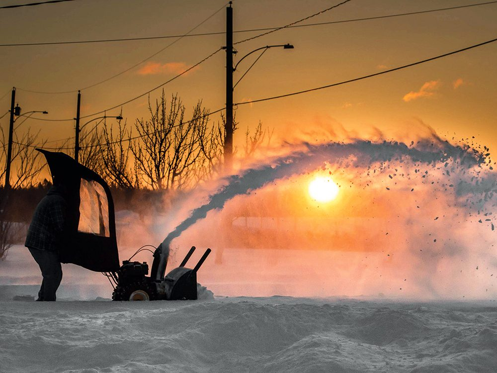 Snowblower in the Canadian winter