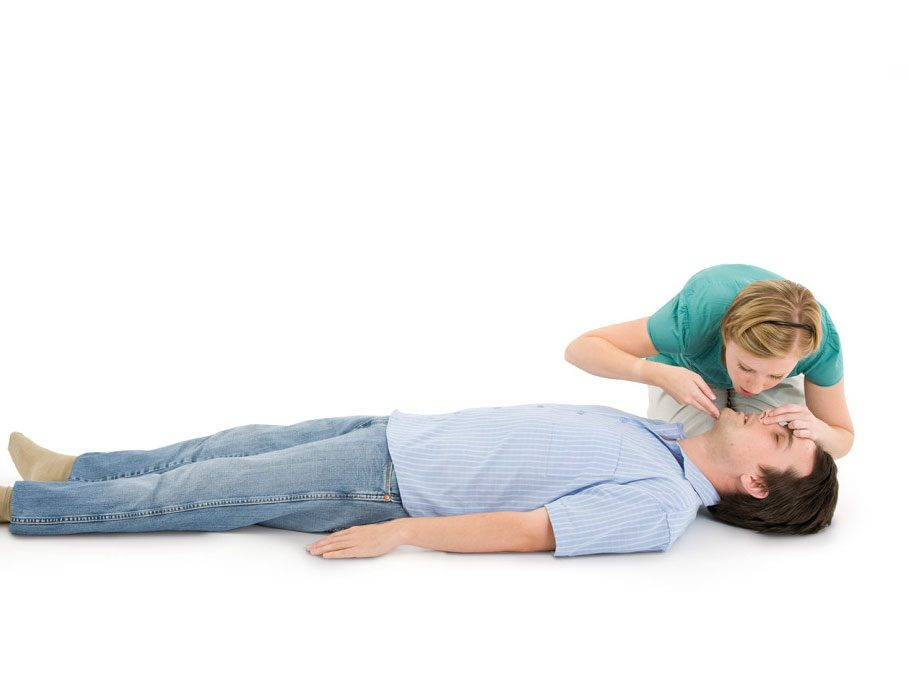 CPR step 5: Give rescue breaths