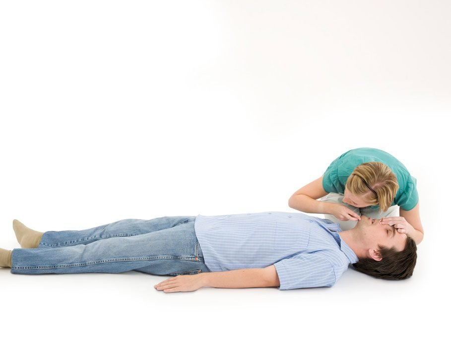 CPR step 6: Watch chest fall