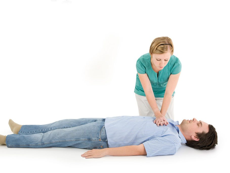 Step 7: Repeat chest compressions and rescue breaths