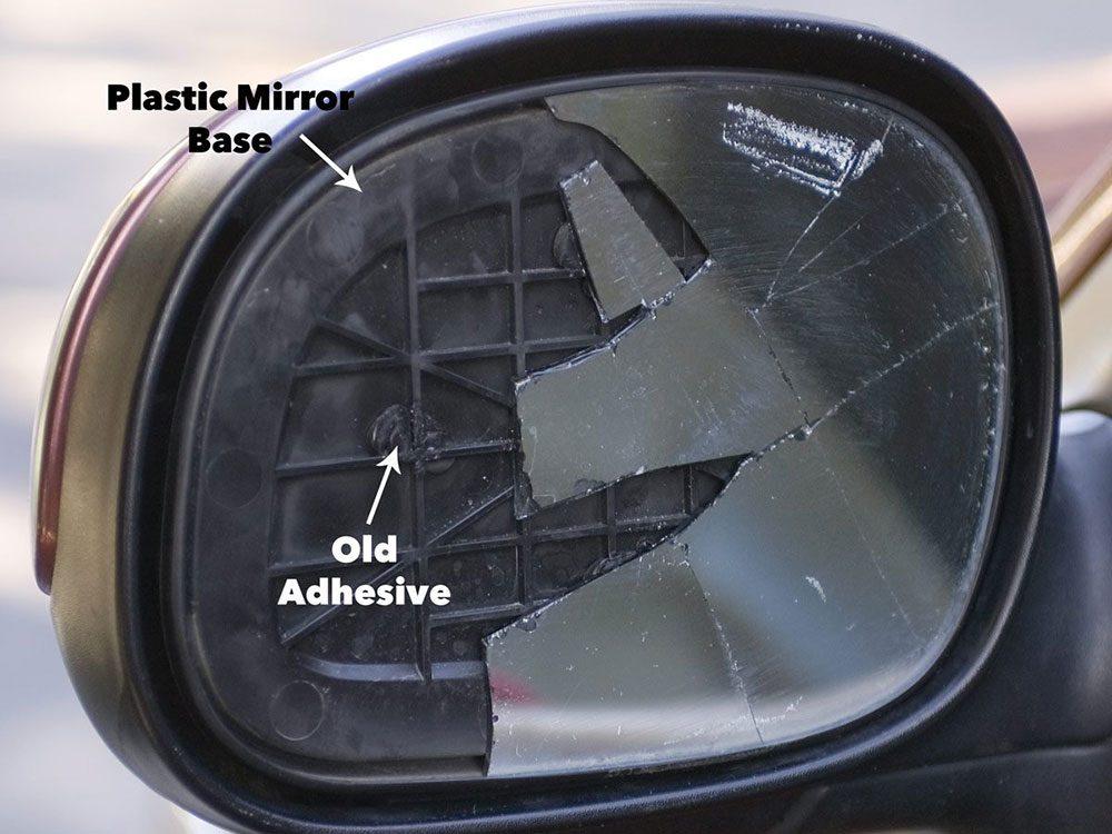 Fix broken side view mirror - step 1