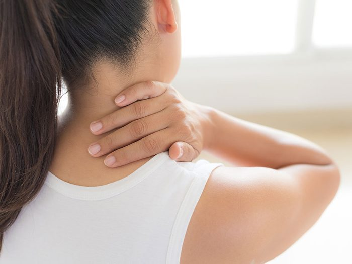 How to get rid of hiccups - massage neck