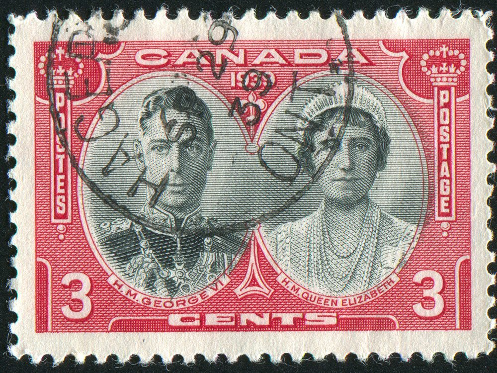 Living in Canada - Vintage Canada postage stamp