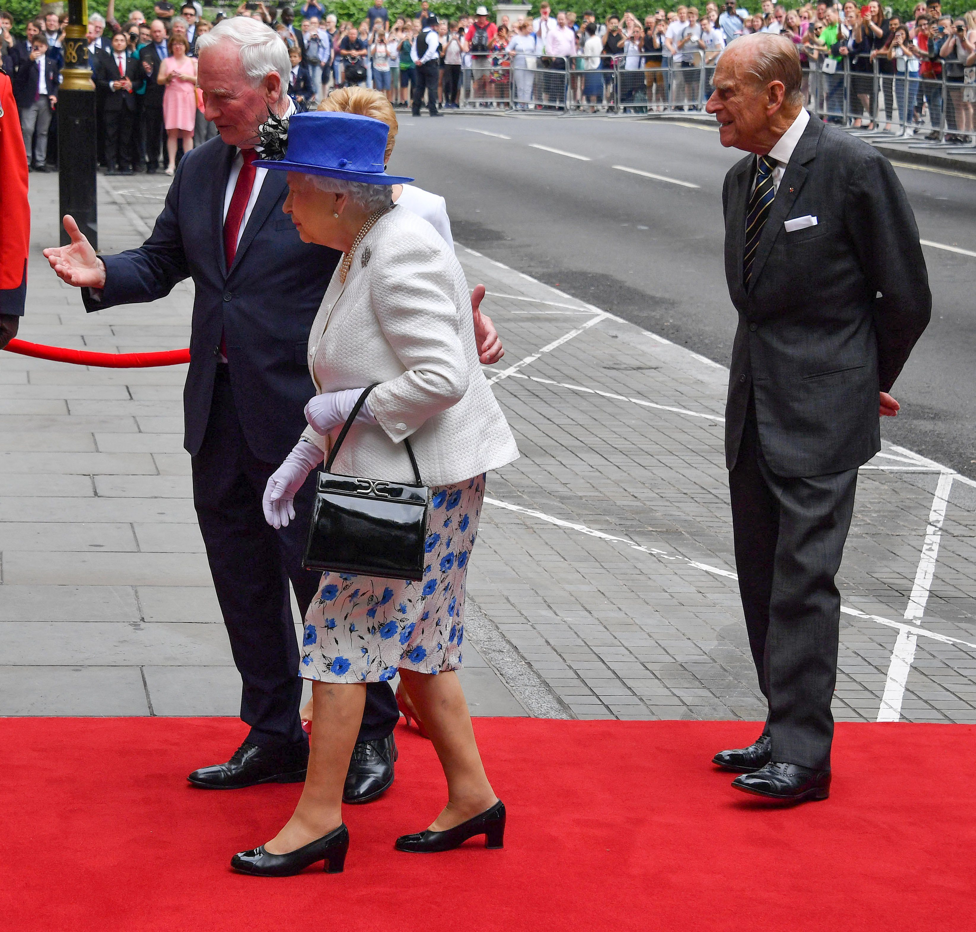 Queen Elizabeth II and Prince Philip visit to Canada House, London, UK - 19 Jul 2017