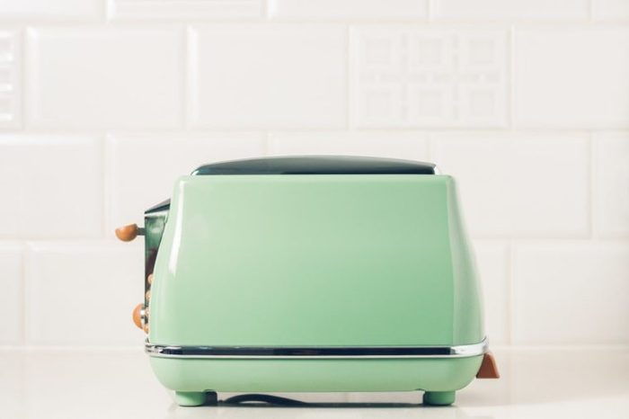 Toaster in vintage style closeup