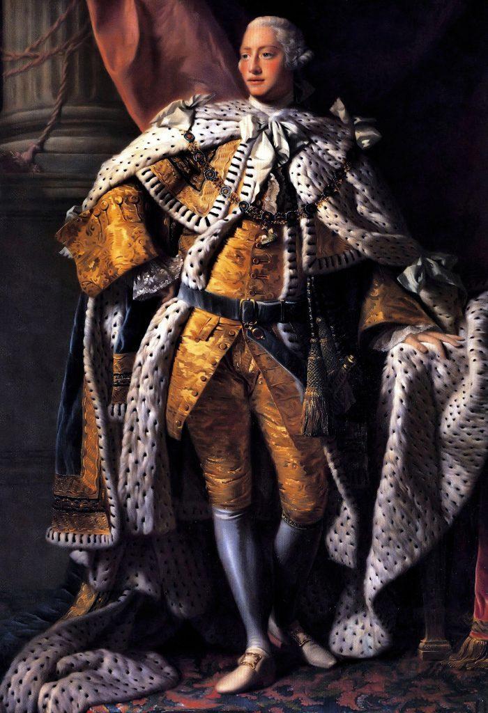 History George III in Coronation Robes. George III 1738-1820, King of Great Britain 1760-1820. Portrait by Allan Ramsay (1713-1784)