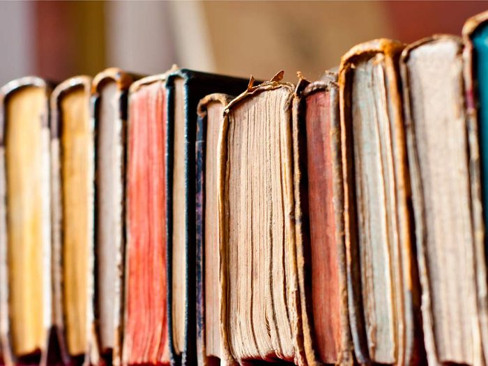 Old hardcover books