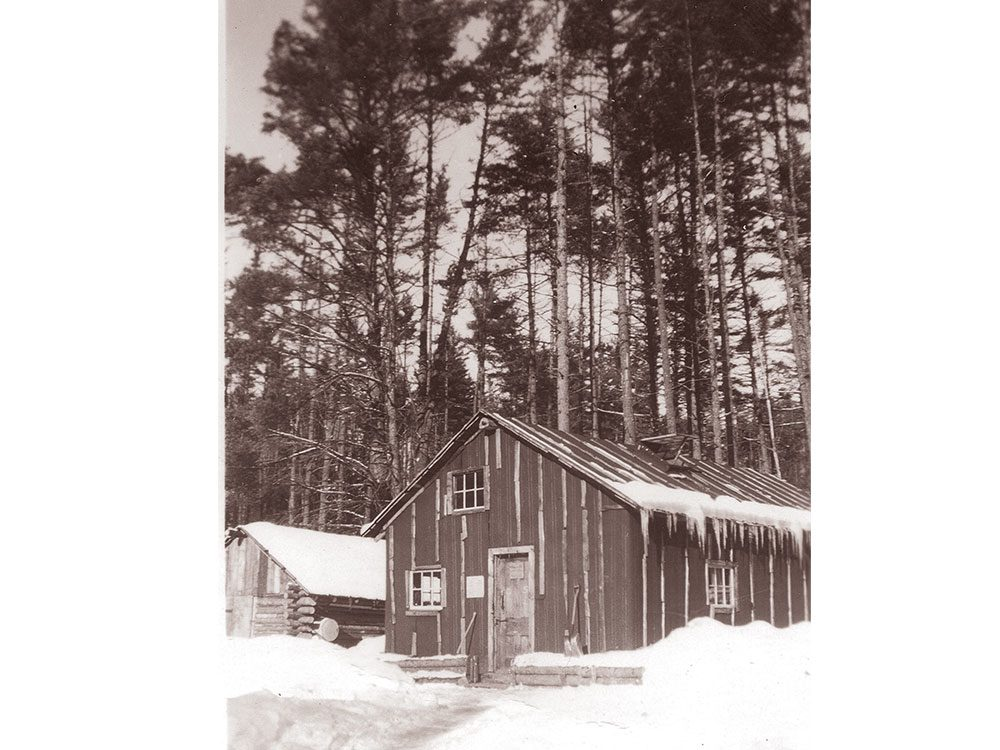 """The camp's """"office"""" building"""