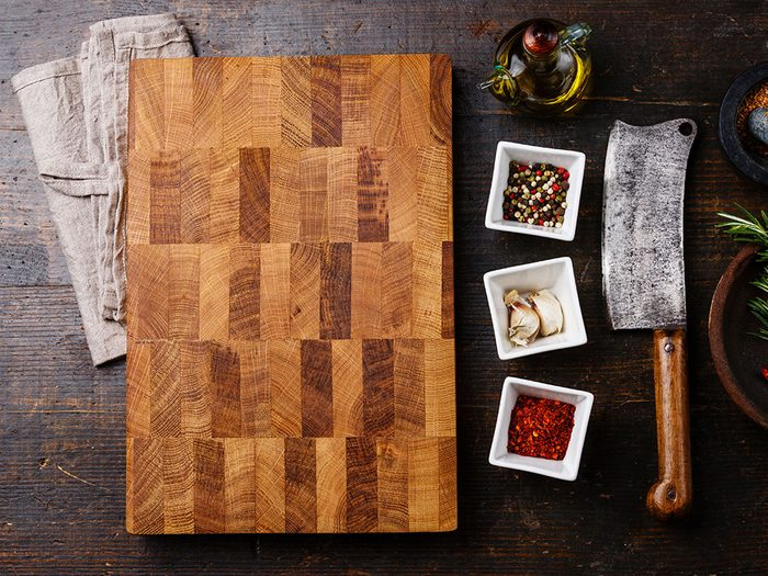 Uses for bleach - clean butcher block