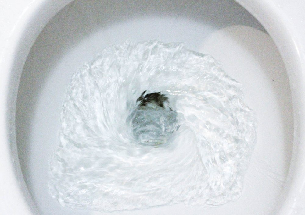 Toilet, Flushing Water, close up
