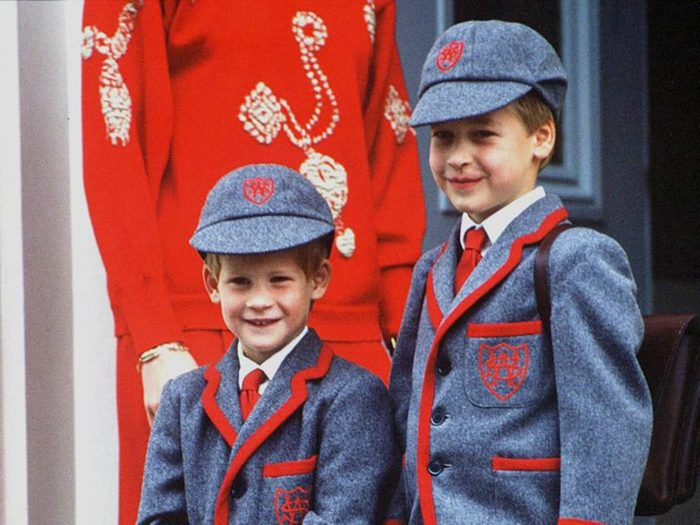 Young Prince Harry and Prince William