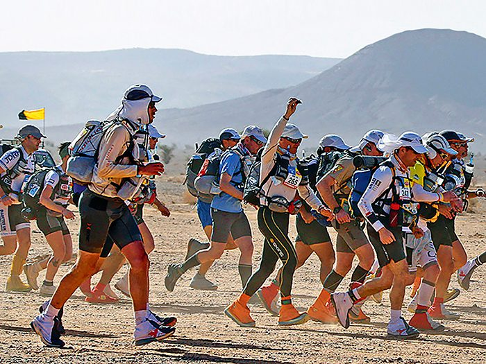 An ultra-marathon in the Sahara
