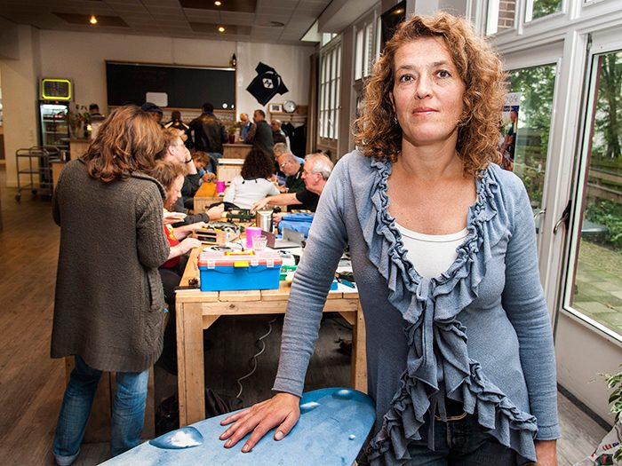 Martine Postma, founder of the first café in Amsterdam
