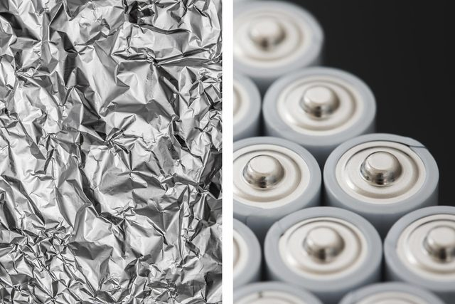 batteries aluminum foil