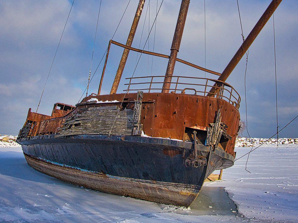 Shipwreck replica