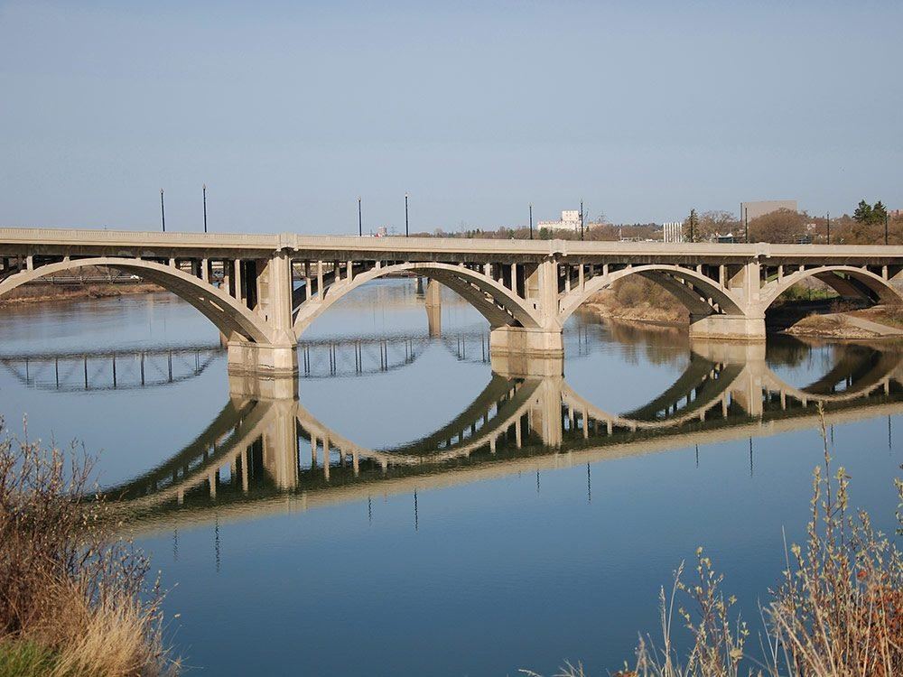 One of Saskatoon's many bridges