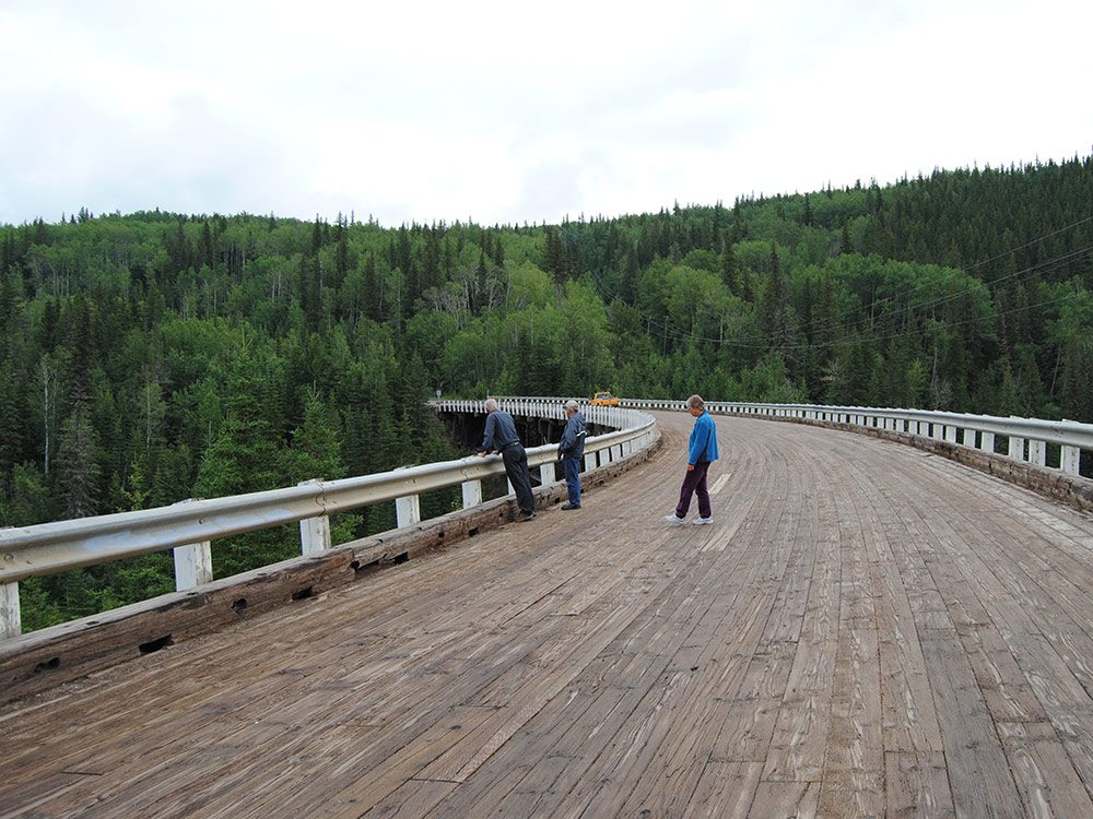 Dawson Creek trestle bridge