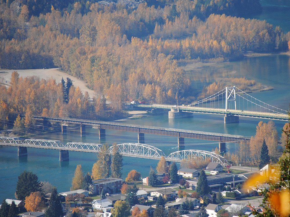 Three bridges in Revelstoke, BC