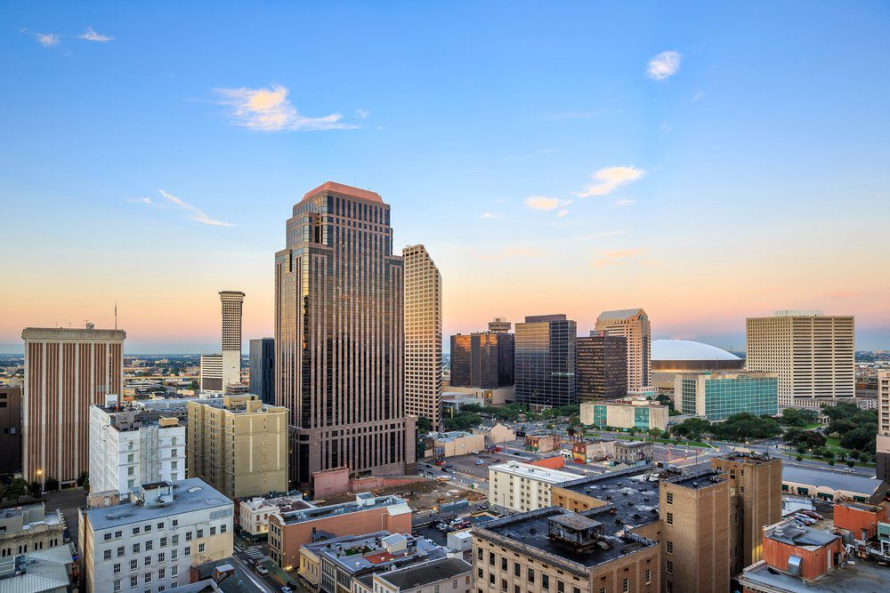 Downtown New Orleans, Louisiana, USA