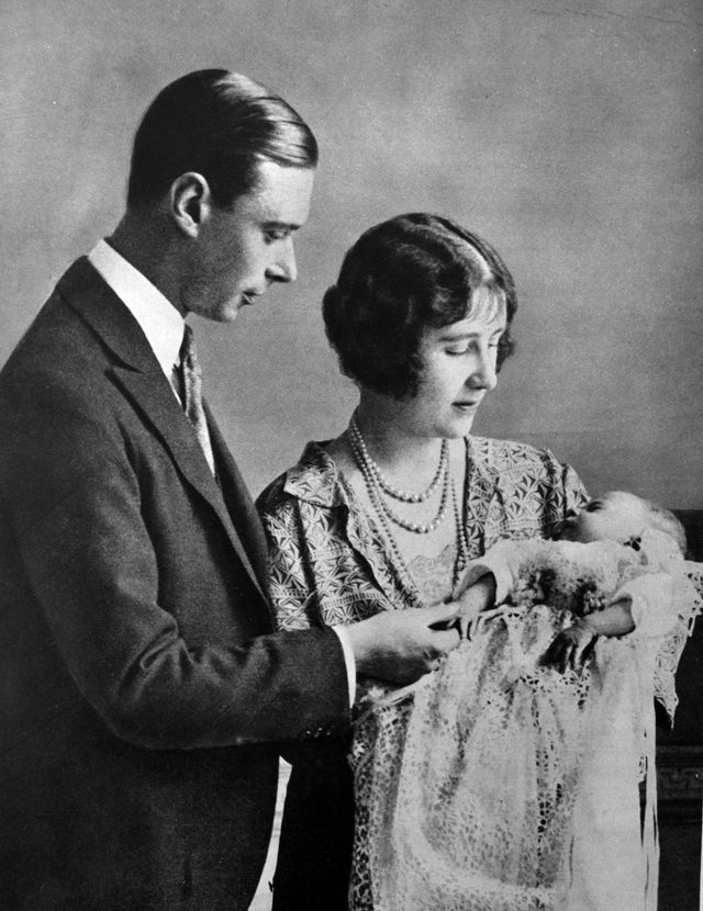 VARIOUS Family portrait of the Duke and Duchess of York (later King George VI and Queen Elizabeth) with the newborn Princess (later Queen Elizabeth II).