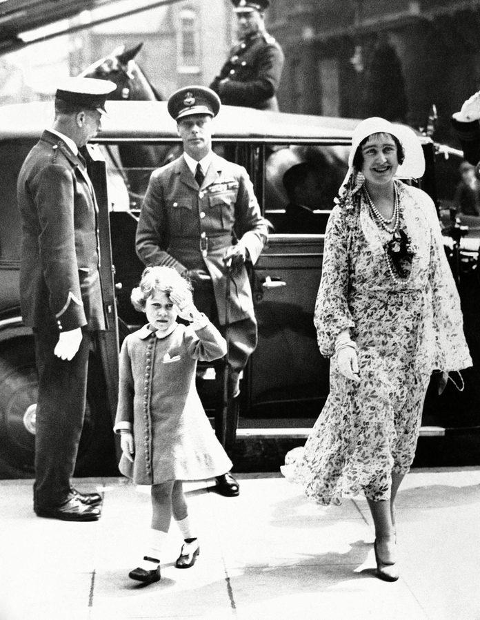 George Duke of York and Elizabeth Duchess of York Princess Elizabeth, London, Gbr Xen