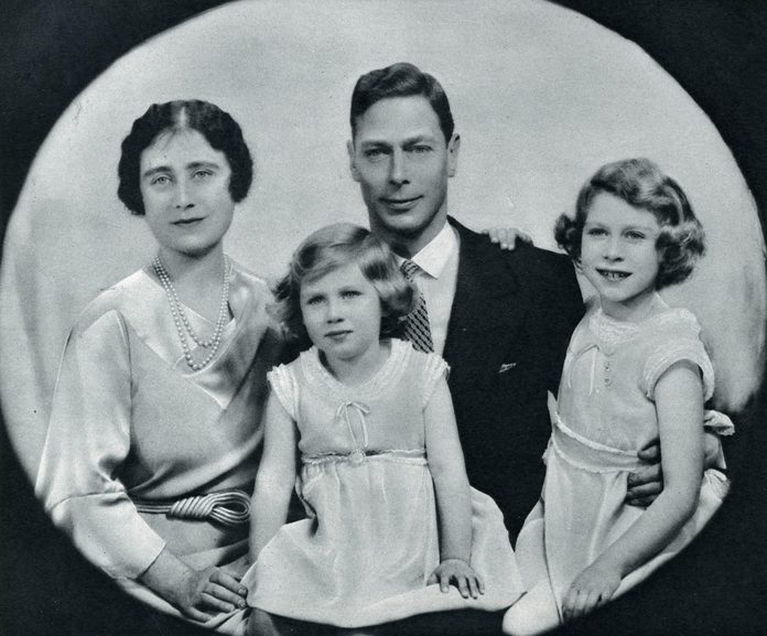 Historical Collection 148 Duke of York (later King George Vi) and Duchess of York (later Queen Elizabeth Consort) with Their Two Daughters Princess Elizabeth (later Queen Elizabeth Ii) and Princess Margaret 1936