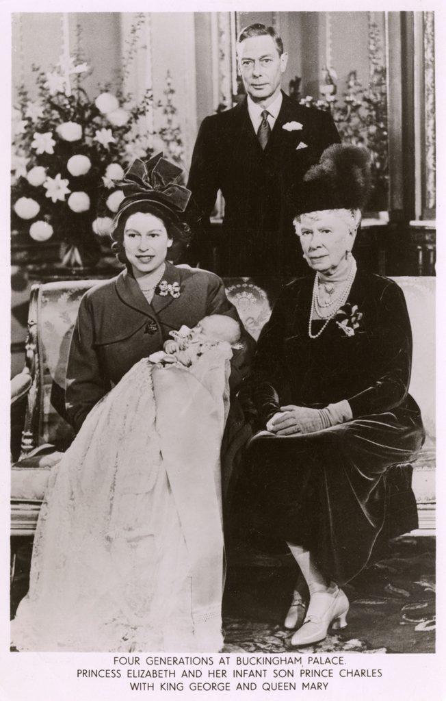 Princess Elizabeth with Infant Son Prince Charles, 1948