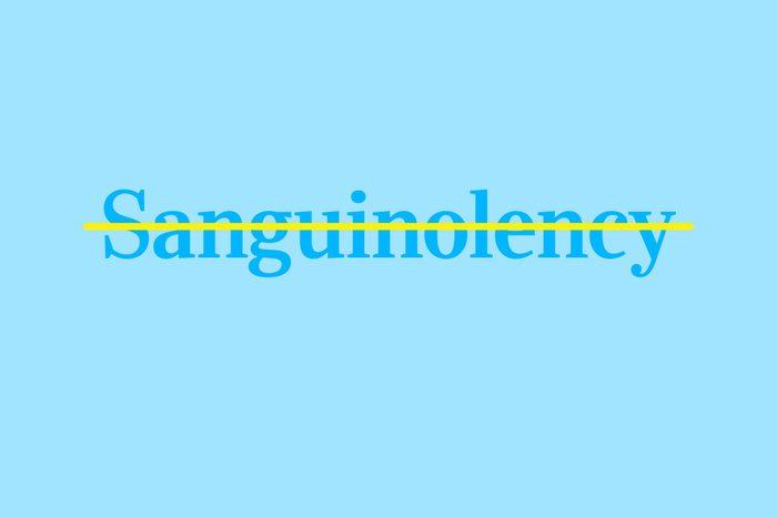 sanguinolency