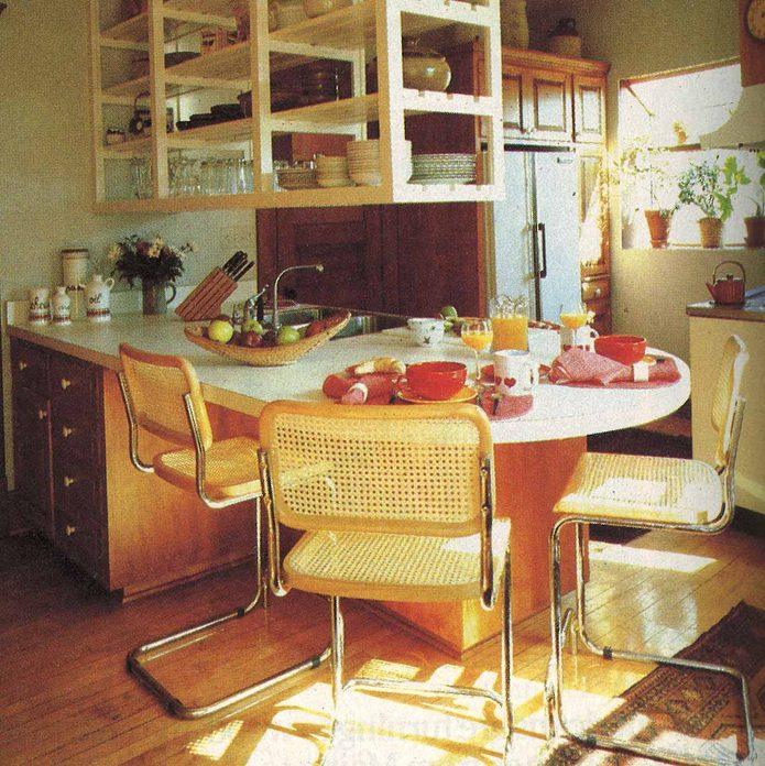 Cane wood interior